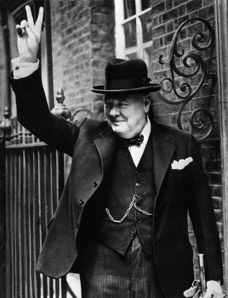 Churchill's classic pose (Picture: Getty Images)